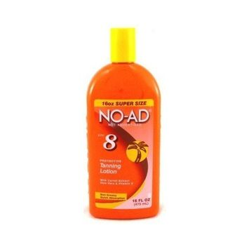 No-Ad Tanning Lotion SPF# 8 16 oz. (Case of 6)