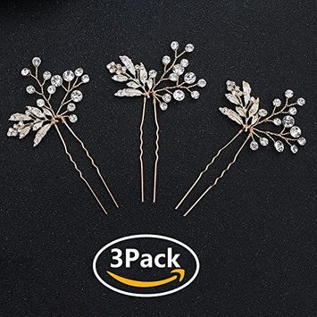 Miallo Wedding Hair Pins Bridal Headpiece Leaf bridal Decoration(Pack of 2)