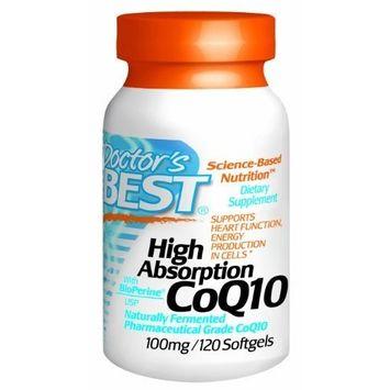 DB's High Absorption Coq10 w/ BioPerine (100 mg), 120 Softgels( Pack of 2)