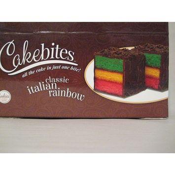 Cakebites Classic Italian Rainbow Cake, Package of 24! Tri-color cake.