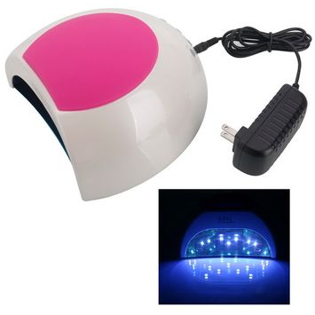 48W White Light SUN2 Sunlight Lamp LED Light Phototherapy Nail Gel Lamp US Standard Rose Red