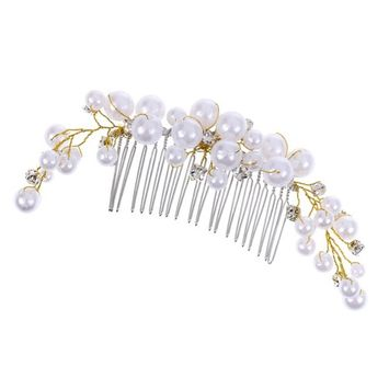 Dovewill Bridal Hair Clips Crystal Tuck Comb for Girls Lady Wedding Prom Fancy Dress