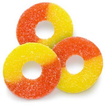 Albanese Gummi Peach Rings, 5 oz, Gluten Free, Fat Free, Low Sodium
