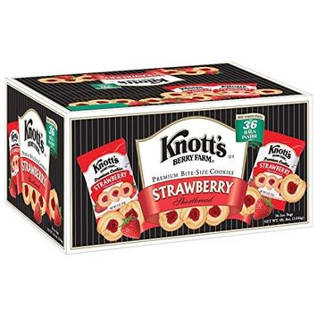 Knott's Berry Farm Strawberry Shortbread Cookies - 36 ct.