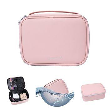 Travel Makeup Bag, SONXEELO Top Quality Women's Multifunction Portable Cosmetic Bag(Pink / Black)