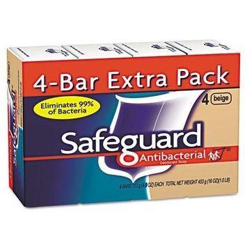 SAFEGUARD 8833 Antibacterial Bath Soap, Beige, 4oz Bar, 48/Carton