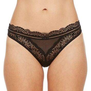 Women's Montelle Intimates Lace Thong 9057