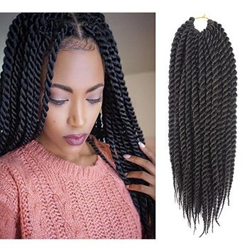 Una 12Inch Ombre Senegalese Twist Crochet Braids(22Strand/Piece) Freetress Havana Mambo Twist Synthetic Hair Extensions(3-Piece, T1B/27)
