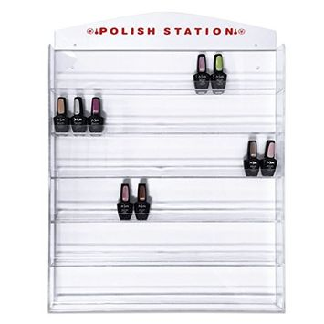 Beauticom Professional Clear Acrylic Nail Polish Wall Rack Display (Holds up to 96 Bottles)