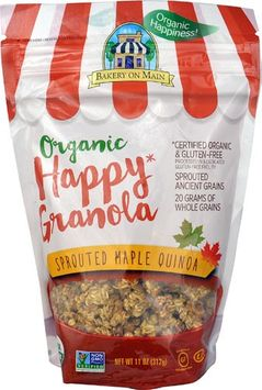 Bakery On Main Organic Happy Granola Gluten Free Sprouted Maple Quinoa - 11 oz pack of 12