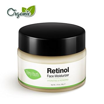 Retinol Face Moisturizer Cream Natural Facial moisturizing Cream 1.76 OZ with Ortho-Hydroxybenzoic Acid,VE for Hydrating,Repairing,Anti-aging,Reducing Wrinkles,Fine Lines&Pimples, Day&Night Face Cream