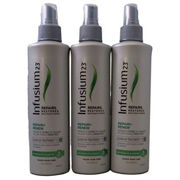 Infusium 23 Repair and Renew Leave in Treatment Spray, 8 oz (3 pack)