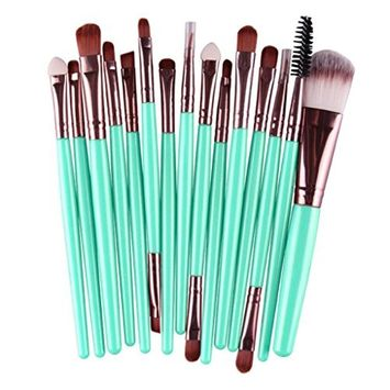 Start 15 pcs/Sets Makeup Brush Set for Eye Shadow Cheek Eyebrow Lip