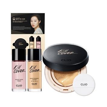 CLIO Kill Cover Liquid Founwear Cushion (with Refill & Highest Wear Primer) (2-BP Lingerie(Pink Beige)) by Clio