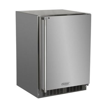 Marvel MO24RAS1RS Outdoor 24 Stainless Steel Undercounter Built-In Compact Refrigerator - Right Hinge