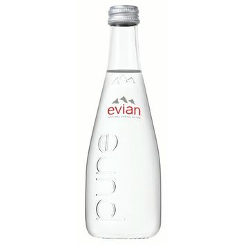 Evian Natural Spring Water, 11.1 Fl Oz, Glass, 20-Pack