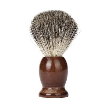 FTXJ Men Classic Wood Handle Shaving Brush Soft Badger Hair Barber Tool