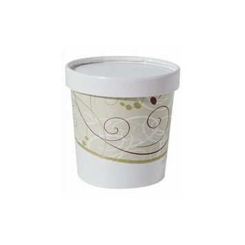 Solo KHB12A-J8000 12 oz Symphony Paper Food Container And Lid (Case of 250 Containers w/Lids)
