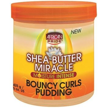 African Pride Shea Butter Miracle Bouncy Curls Pudding 15 oz. (Pack of 2)