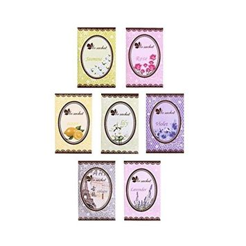 HuaYang 7 Taste Scented Fragrance Home Wardrobe Drawer Car Perfume Sachet Bag Mini Pouch(Violet/Lemon/Rose/Jasmine/Lily/Cologne/Lavender)