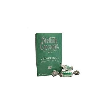 Dilettante Chocolates Peppermint Double Milk Chocolate TruffleCremes No. 23, 10 oz Package in a BlackTie Box