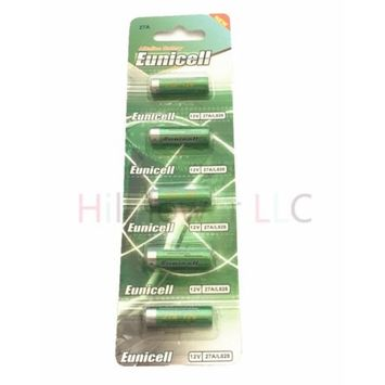 Hillflower 5 piece 27A A27 MN27 L828 CA22 27 Card 0% Mercury 0% Hg 12V Alkaline Battery