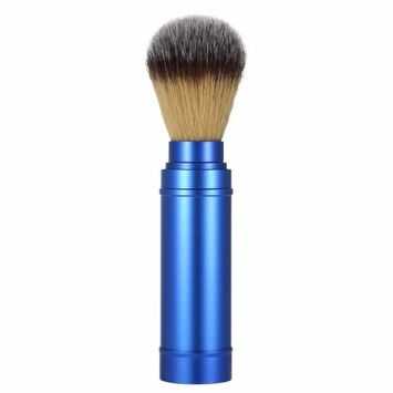 Anself Pure Badger Shaving Brush Removable Blaireau Beard Cleaning Brush Aluminum Handle