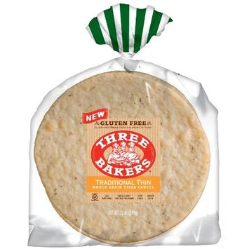 Three Bakers Gluten Free Pizza Crusts 12oz (Pack of 6)