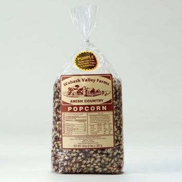 Wabash Valley Farms Amish Country Gourmet Popping Corn, Purple, 6-Pound Bag