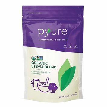 Pyure Organic All-Purpose Blend Stevia Sweetener, Sugar Substitute, 2.5 lb (40 oz)