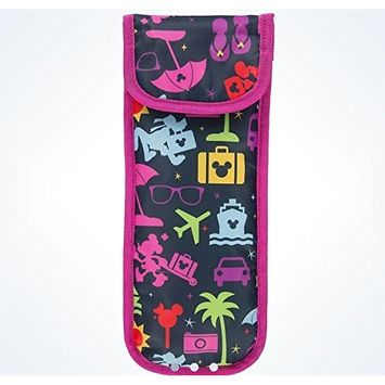 Disney Parks TAG Mickey Curling Iron Case Travel Bag