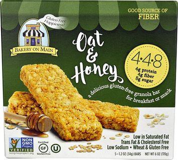 Bakery On Main Gluten Free Granola Bars Oat & Honey - 5 Bars pack of 4