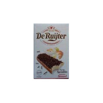 Deruyter Chocoadehagel Puur (Dark Chocolate Sprinkles), 14 Oz Boxes (Pack of 8)