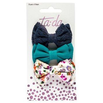 Ta-da™ Girls' Mini Bow Clips - 3ct
