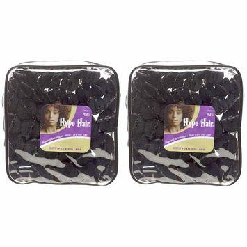 Scunci Hype Hair Satin Foam Rollers, 42 pcs
