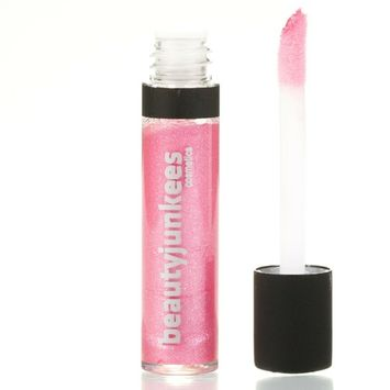 Long Lasting Shimmery Lip Gloss – Candy Pink Mini Lipgloss, Mint Flavored Moisturizing Shine, Sheer, All Natural, Paraben Free, Gluten Free, Cruelty Free, Made in the USA