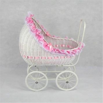 Regal Doll Carriages P668 Isabella Wicker Doll Carriage Buggy Stroller Pram Large