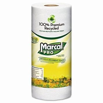Marcal 630 100% Premium Recycled Towels, 2-Ply, 11 x 9, White, 70/Roll, 30 Rolls/Carton