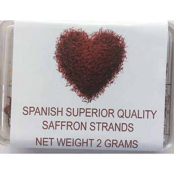 Spanish Superior Quality Saffron Strands 2 Grams, Best Spanish Saffron, Product Of Spain