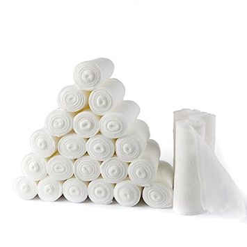 BodyHealt Stretch Gauze Bandage Roll, Non-Sterile 4 inch Length x 4 Yards