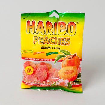 Dollaritemdirect GUMMI CANDY HARIBO PEACHES 4OZ PEG BAG, Case Pack of 12