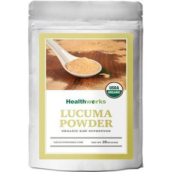 Healthworks Lucuma Powder Raw Organic (16 Ounces / 1 Pound) | All-Natural & Certified Organic | Keto, Vegan & Non-GMO | Peruvian Origin | Antioxidant Superfood | Smoothies, Cereal & Ice Cream