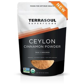 Terrasoul Superfoods Organic Ceylon Cinnamon Powder, 16 Oz - Lab-Tested for Authenticity | Premium Quality and Flavor