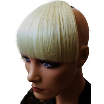 PRETTYSHOP Fringe Bangs Clip in Extension Hair Piece Heat-Resisting Synthetic Fiber light blonde #88 HF3