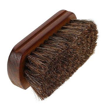 Wood Handle Horse Hair Men's Shaving Brush Facial Beard Mustache Cleaning Brush Barber Salon Beard Cleaning Appliance Tool