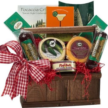 Meat and Cheese Lovers Gourmet Food Gift Basket with Smoked Salmon (Schedule Delivery)