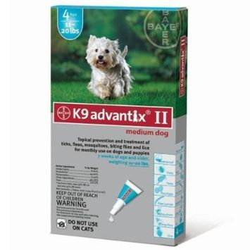 For Dogs 10-22 Lbs. 4 Month Supply by Advantix