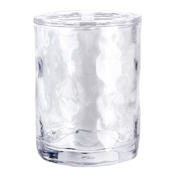 Essential Home Clear Waves Plastic Toothbrush Holder