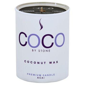Stone Candles COCO3AC 2.5 oz Coconut Candle - Acai