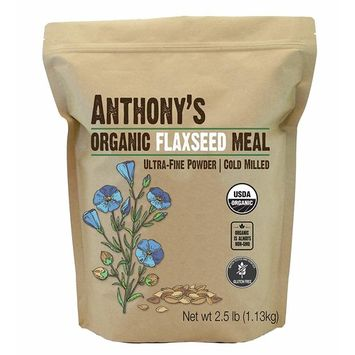 Anthony's Organic Flaxseed Meal (2.5lb), Gluten Free, Ground Ultra-Fine Powder, Cold Milled